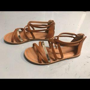 Girls' Nina Brown Sandal - Size 4 - Gently Worn